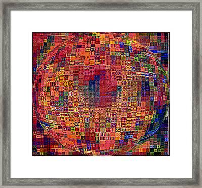 Mosiac Sphere Framed Print by Mindy Newman