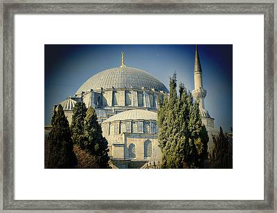 Mosque Magnificent Framed Print by Joan Carroll