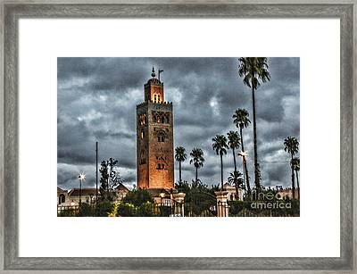 Mosque Marrakesh I Framed Print by Chuck Kuhn
