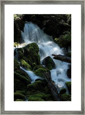 Mossy Cascades Framed Print by Harry Snowden