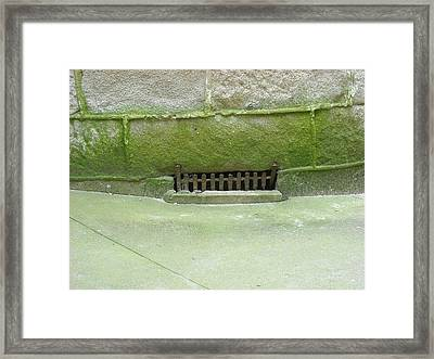 Framed Print featuring the photograph Mossy Grate by Christophe Ennis
