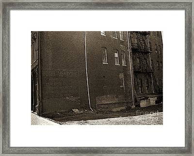 Motel Vendome Framed Print by Gregory Dyer