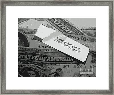 Moth Rust World Bank Framed Print