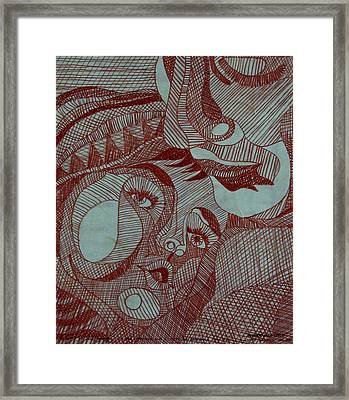 Mother And Child Framed Print by Andre Salvador