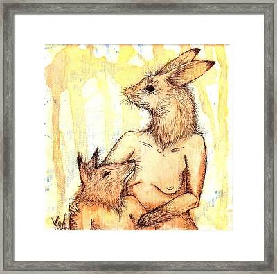 Mother And Child Framed Print by Jenn Page