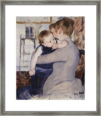 Mother And Child Framed Print by Mary Stephenson