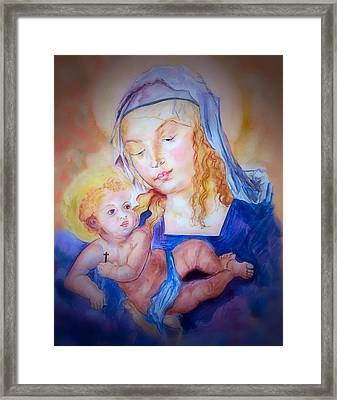 Mother And Child Framed Print by Myrna Migala