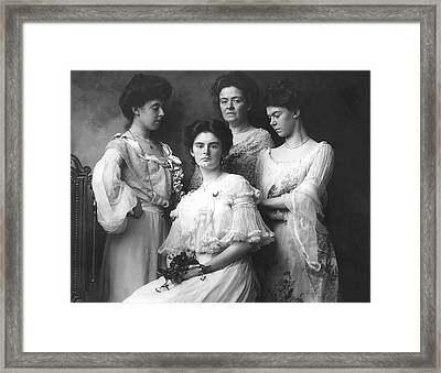 Mother And Daughters Framed Print