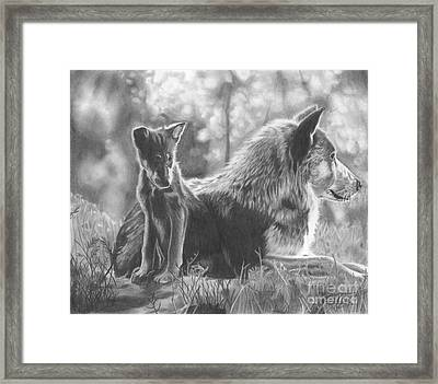 Mother And Pup Framed Print