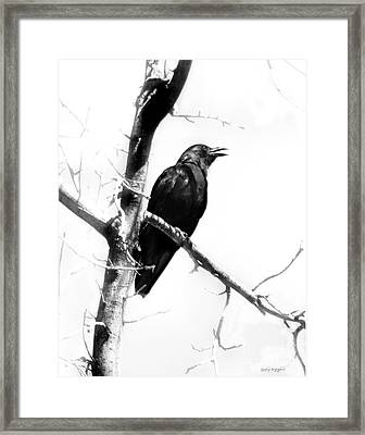Framed Print featuring the digital art Mother Crow by Rhonda Strickland