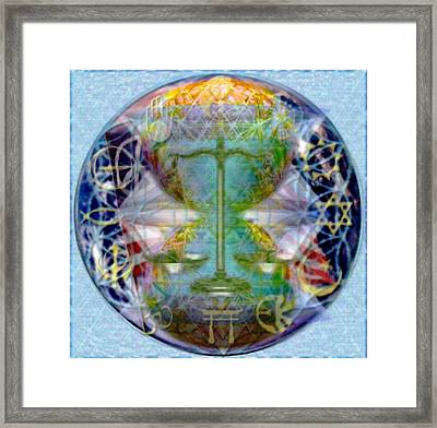 Mother Earth Balancing Peace Framed Print