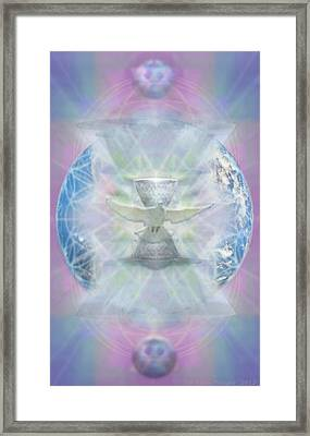 Mother Earth Dove And Chalice Framed Print