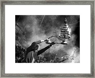Mother Ganga Framed Print by Nina Papiorek