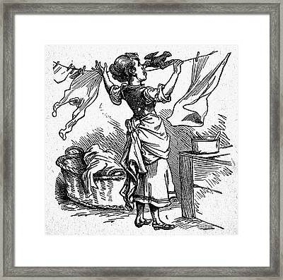 Mother Goose: Maid Framed Print