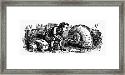 Mother Goose: Snail Framed Print by Granger