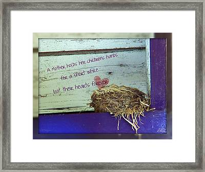Mother Hold's Framed Print by Michelle Frizzell-Thompson