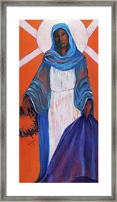 Mother Mary In Sorrow Framed Print by Mary DuCharme