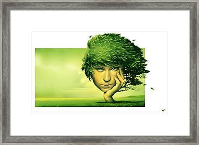 Mother Nature, Conceptual Artwork Framed Print by Smetek