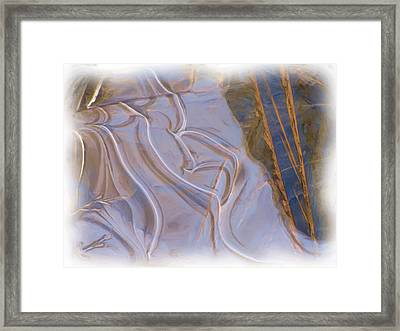 Mother Nature Does Ice Framed Print by Feva  Fotos