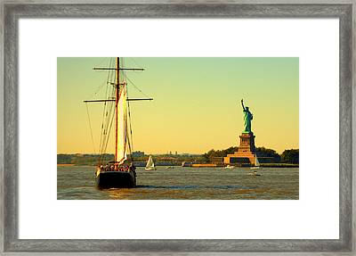 Mother Of Exiles 2 Framed Print by Aron Chervin
