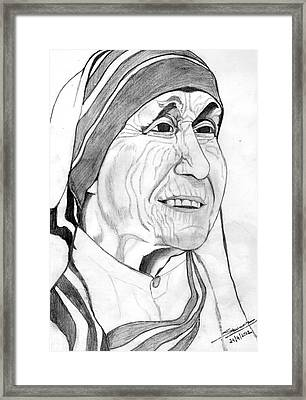 Mother Of Love Framed Print by Shashi Kumar