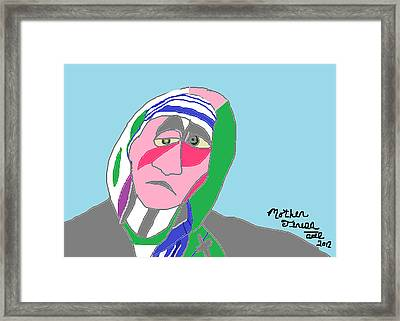 Framed Print featuring the painting Mother Teresa by Anita Dale Livaditis