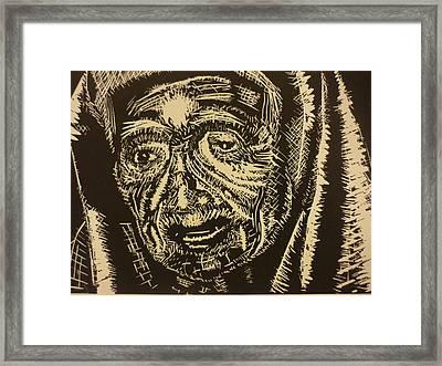Mother Teresa Framed Print by Casey P