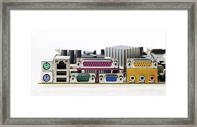 Motherboard Connectors Framed Print by Colin Cuthbert