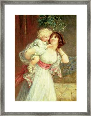 Mothers Darling Framed Print by Frederick Morgan