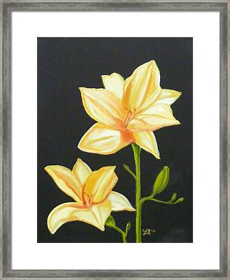 Mother's Lilies Framed Print