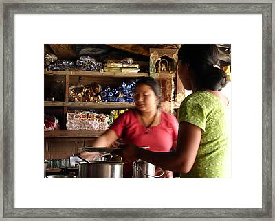 Mothr And Daughter Framed Print by Anand Swaroop Manchiraju