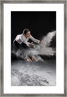 Motion Explosion Framed Print by Amelia Falk