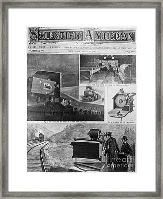 Motion Pictures, 1897 Framed Print by Granger