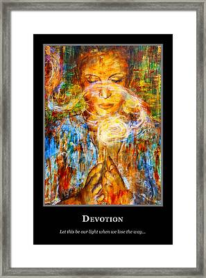 Motivational Devotion Framed Print