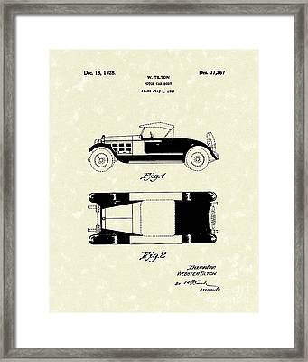 Motor Car Tilton 1928 Patent Art Framed Print by Prior Art Design