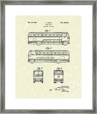 Motor Coach 1949 Loewy Patent Art   Framed Print