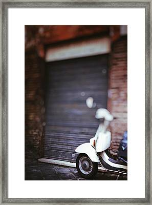 Motor Scooter Framed Print