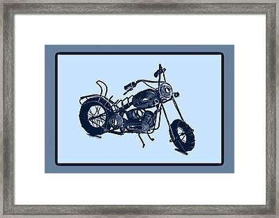 Motorbike 1a Framed Print by Mauro Celotti