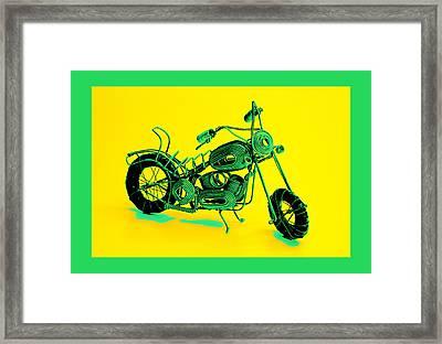 Motorbike 1b Framed Print by Mauro Celotti