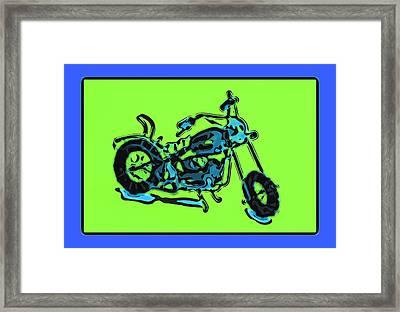 Motorbike 1c Framed Print by Mauro Celotti