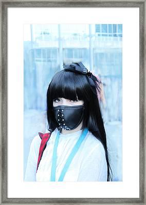 Motorbike Girly Mask Framed Print by Viktor Savchenko