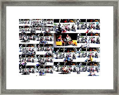 Motorbike Watching On Ubud Streets   Framed Print by Funkpix Photo Hunter
