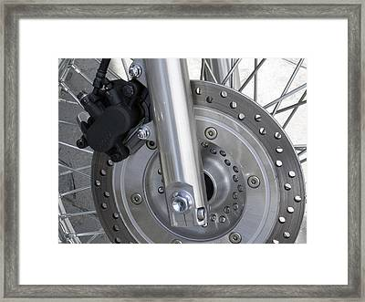 Motorcycle Disc Brake Framed Print by Tony Craddock