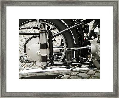 Motorcycle Framed Print by Odon Czintos
