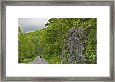 Motorcycle Ride - 1039 Framed Print by Chuck Smith