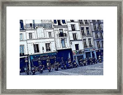 Motorcycle Row Framed Print