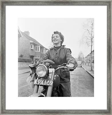 Motorcyclist Framed Print by Ronald Startup
