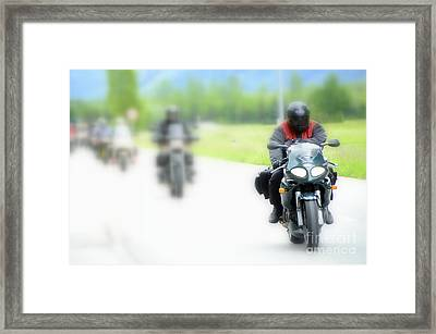 Motorcyclists Framed Print