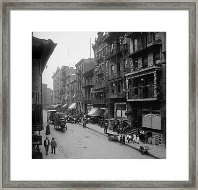 Mott Street In New York Citys Chinatown Framed Print by Everett