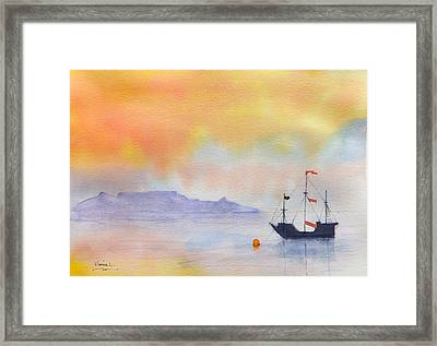 Mouille Point Mooring Cape Town Framed Print by Harold Kimmel